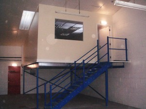Interior refurbishment with mezzanine office area
