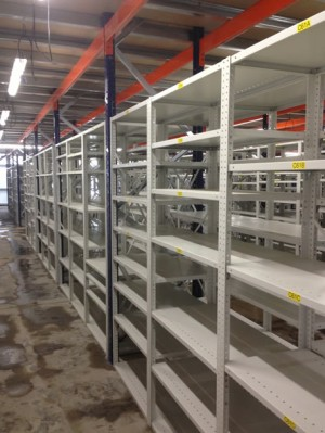 Eacking shelves